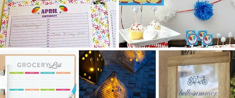 20 Free Printables for Summer