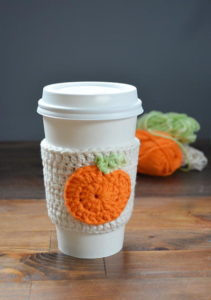 Pumpkin-Crochet-Coffee-Cozy