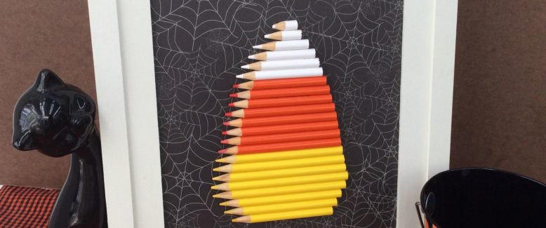 Recycled Craft: Colored Pencil Candy Corn Halloween Decoration
