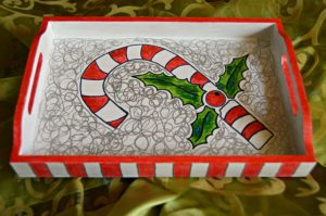Candy Cane Christmas Tray3
