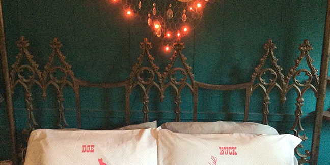 """Wedding Gift Idea: Matching Stencil Pillow Cases for a """"Deer"""" Couple"""