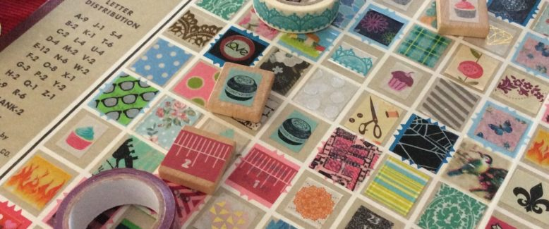 Recycled Craft: Turn Your Old Scrabble Board Into Art (Doubles as a Game!)