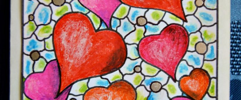 Stained Glass Valentine's Day Card