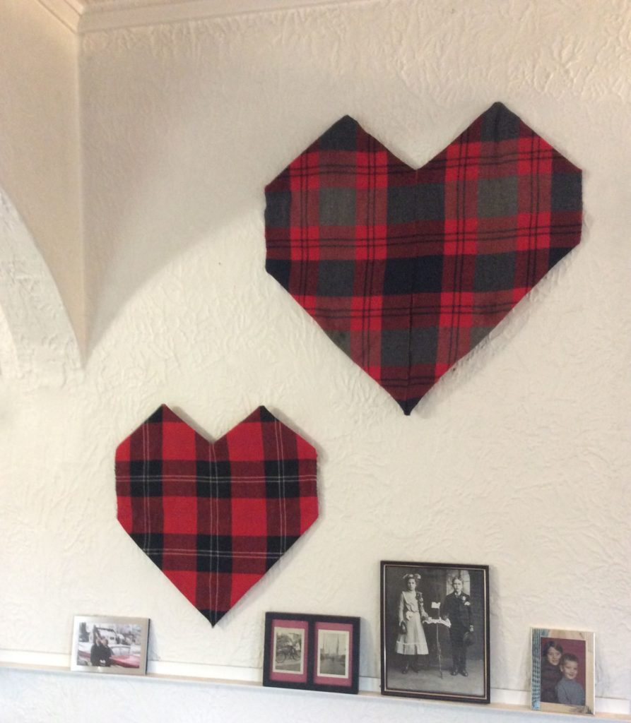 Highlander Hearts: Recycled Craft Plaid Hearts Decoration