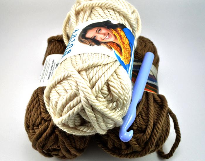 Mega Bulky Yarn Crochet Blanket Materials