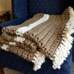 Mega Bulky Yarn Crochet Blanket Feature Image