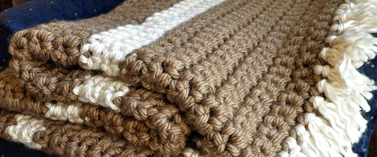 Mega Bulky Yarn Crochet Blanket