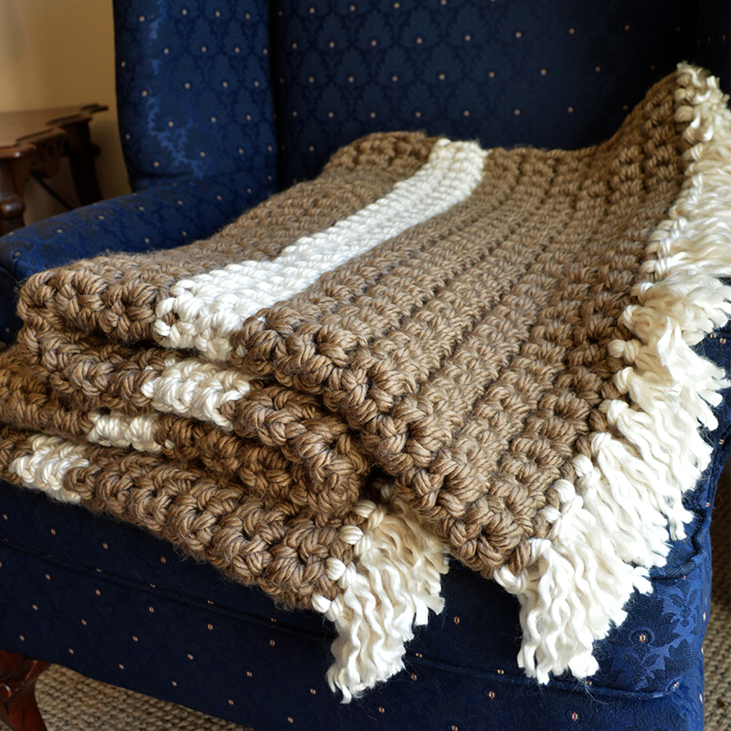 Crochet Pattern For Bulky Yarn Blanket : Mega Bulky Yarn Crochet Blanket - Cheap Eats and Thrifty ...