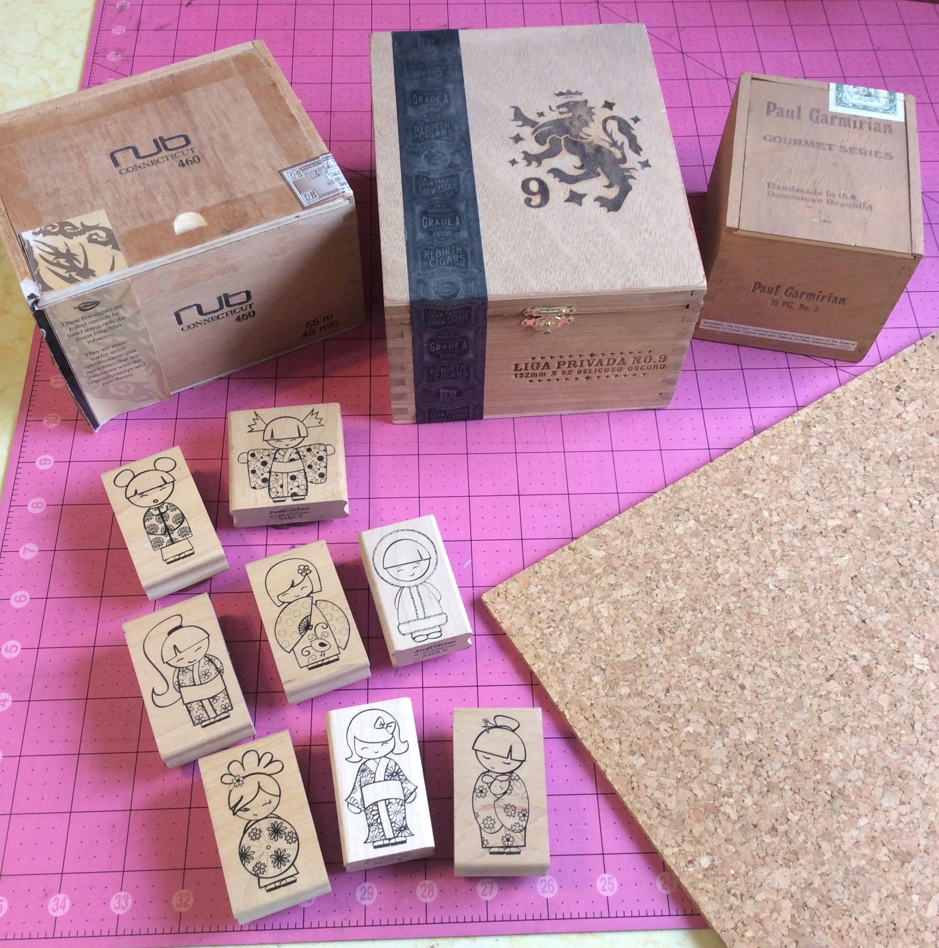 Recycled Craft: Cigar Box Cork Board Organizers - Cheap Eats and ...