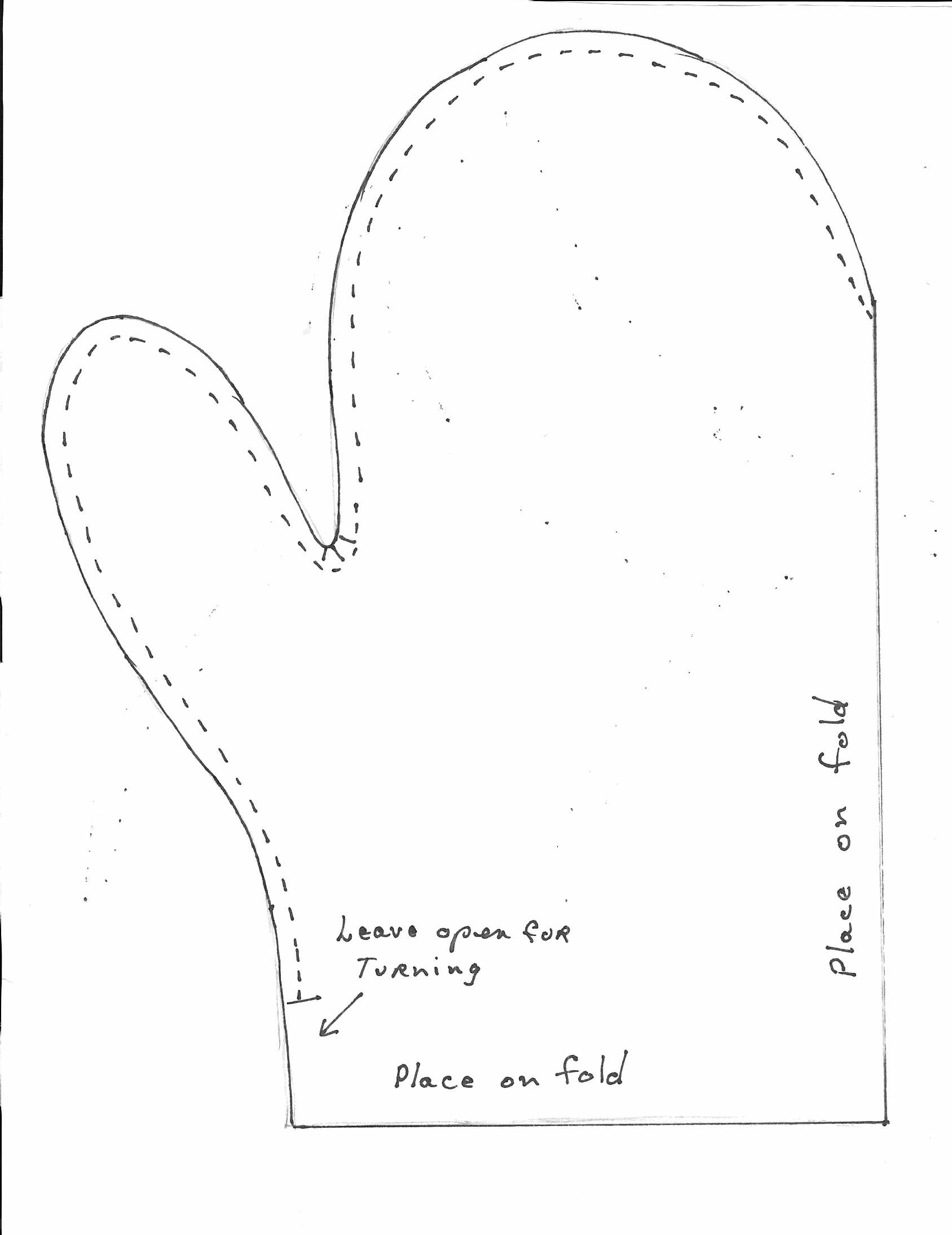 photograph about Printable Mitten Pattern identified as One particular garden fleece mounted-mitten habit - Low-cost Eats and Thrifty