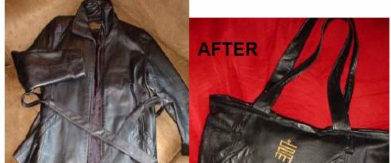 Transform a Leather Coat Into a Handbag!