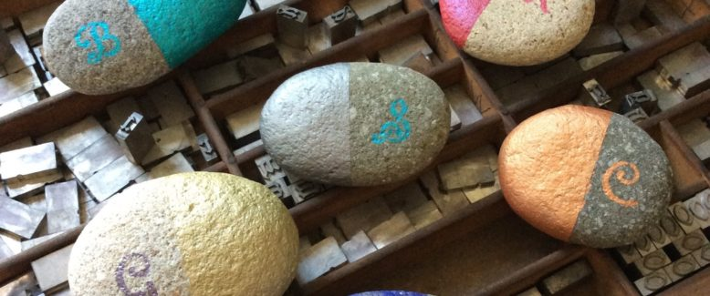 Metallic Monogram Painted Rocks – Because Your Mom Rocks!