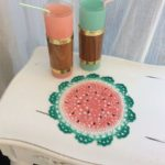 Fresh Summer Watermelon Doily Craft