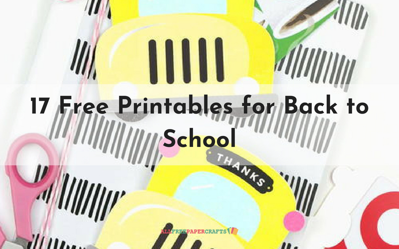 17 Free Printables for Back to School