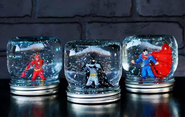 """Superhero Snowstorm"" Snow Globes"