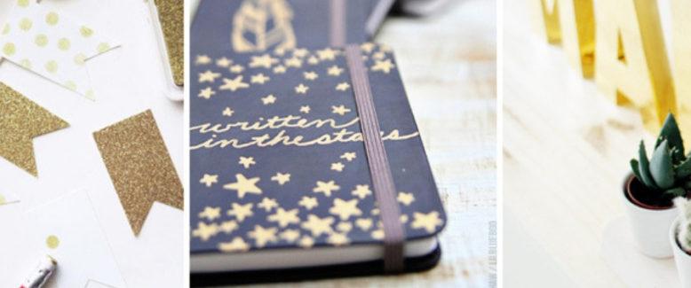 20 DIY Gold Paper Crafts