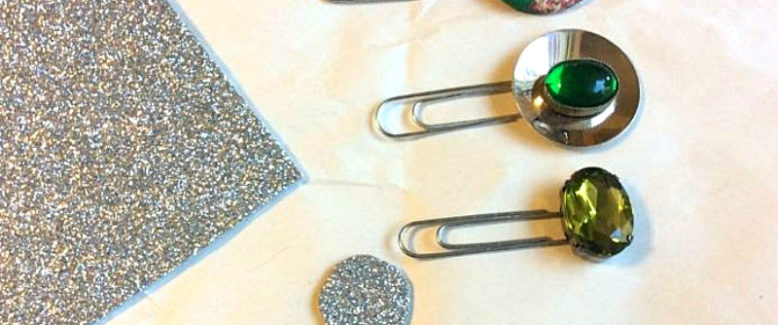 DIY Planner Clips from Recycled Craft Pins, Buttons, and Jewelry