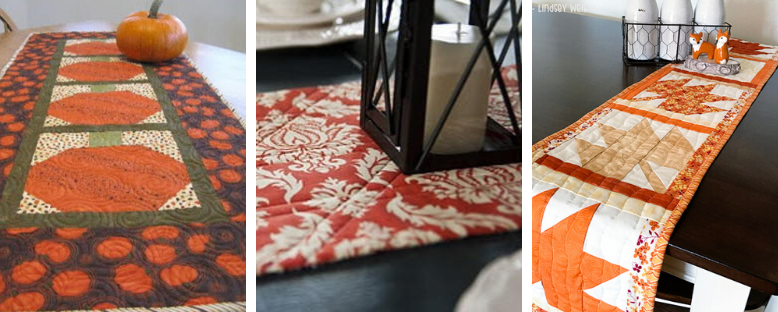 6 Last Minute Table Runner Patterns You Can Make Before Thanksgiving